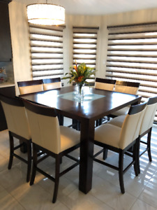 Great Condition Pub Height 8-Chair Dining Table MUST SEE!