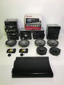 AS-IS 19 ASSORTED CAR AUDIO TO FIX OR FOR PARTS - FJN