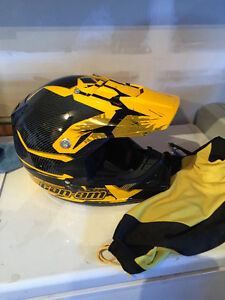 TWO CANAM BLACK AND YELLOW HELMET!