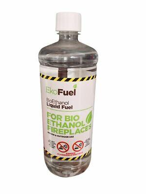 1 Litre Bottle Bio Ethanol Fuel Bioethanol Fuel Clean Burning Fuel 4 BOTTLES