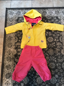 Rain coat and rain rain pants Souris mini size 24 months