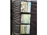 X 3 small beach canvases *reduced price