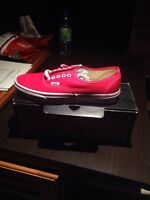 Red Vans shoes authentic size 9