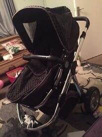 icandy pushchair in brown colour.