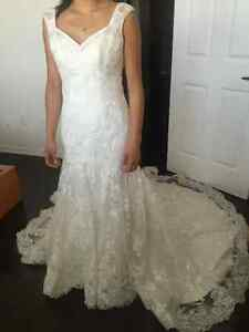 Maggie Sottero 2-in-1 Lace and Satin Wedding Dress