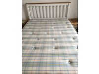 Clean Double mattress. Made for for slatted pine or metal bed base