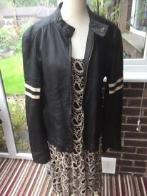 River island leather jacket size medium