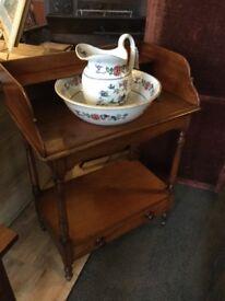 Antique washstand jug and basin