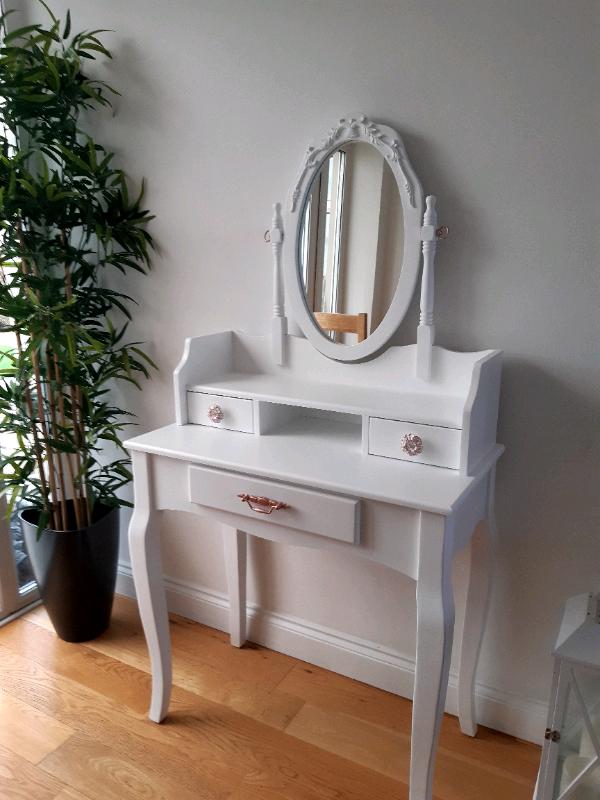 Dunelms Lumberton White Dressing Table, Mirrored Dressing Table Set Gumtree