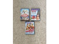 3 kids Christmas puppy dvd's.. Like New!
