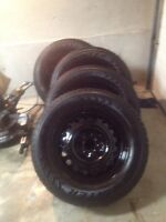 235 65 17 snow tires on rims