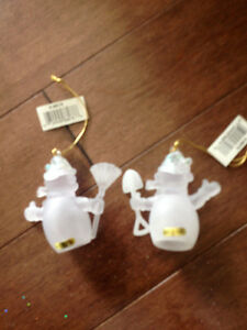 snow man Christmas ornaments Strathcona County Edmonton Area image 2