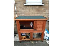 Double rabbit hutch and cover