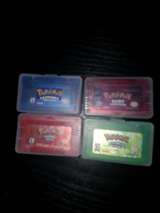 Pokemon gba/ds games