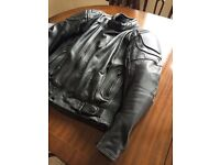 Ashman Motorcycle Leather Jacket Mens UK40