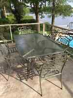 patio table with 6 chairs