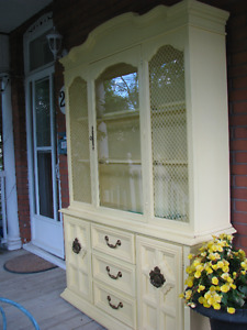 lovely yellow hutch