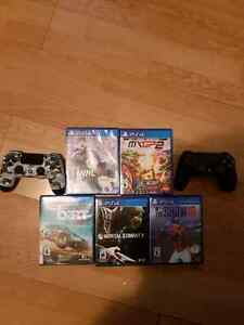 Ps4s -2 controllers-5 games