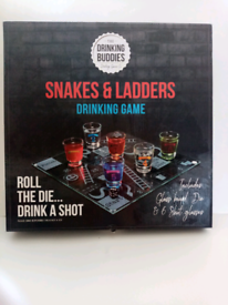 Brand new snakes and ladders drinking game