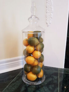 Lemon/Lime Filled Apothecary Jar - Unlimited uses in every home