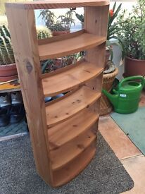 Pine curved CD wall rack