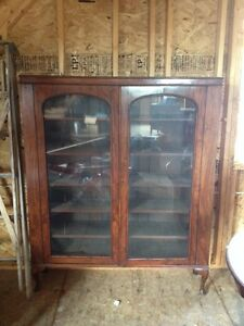 Antique Book Shelf Cabinet Late 1800's , must sell.