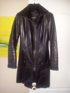 WOMEN RUDSAK LEATHER COAT - MANTEAU CUIR FEMME