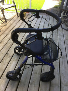 Evolution Walker with padded seat & wire basket