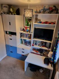 Childrens IKEA bedroom furniture set.