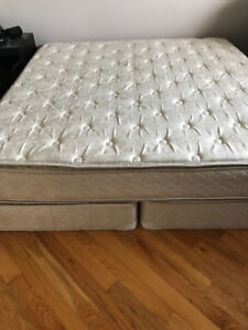 King size mattresse and box spring, plus mattress cover
