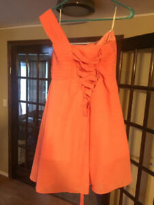 Coral bridesmaid dress size 8to 10