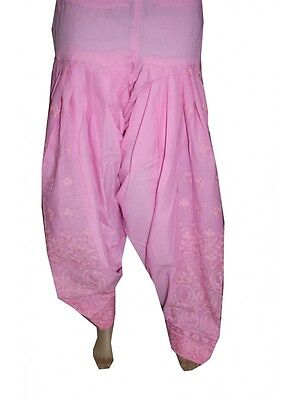 Used, Pink Indian Readymade Ethnic Punjab Suit PATIALA/ Patiyala SALWAR Women Pants for sale  Shipping to United States