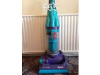DYSON DC07 FULLY SERVICED MINT CONDITION 6 MONTHS WARRANTY BLUE AND PURPLE