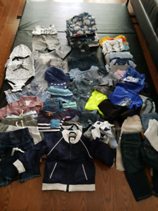 Baby clothes and shoes.  Gap, Armani, carters, Calvin Klien