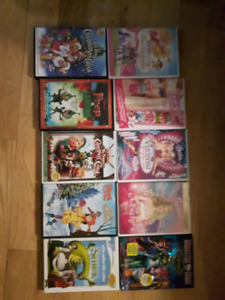NEW PRICE-Barbie, Christmas, and Monster High DVD's