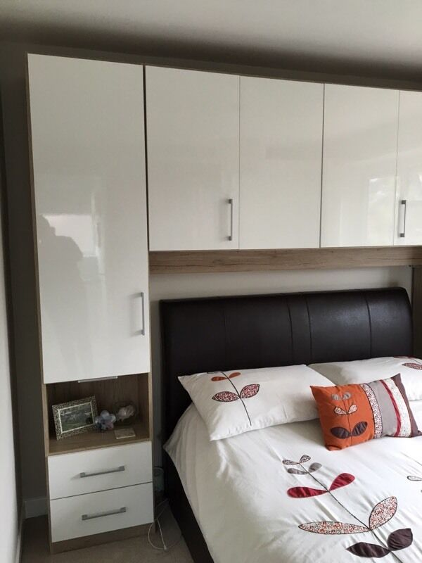 Double Wardrobe With Over Bed Storage Units Excellent