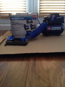 air compressor and 4 nailers