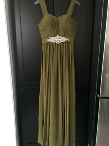 Olive Dress (banquet, bridesmaid, prom, party)