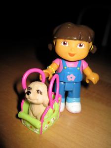 Dora the Explorer + Pet + house + pool