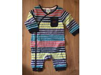 TED BAKER striped baby grow age 0-3months NEW without Label UNWORN