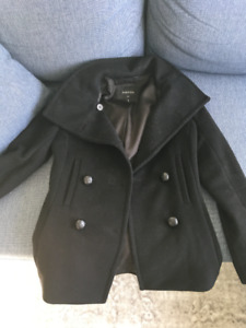 Aritzia Howell Peacoat in BLACK XXS
