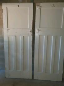 2 x wooden doors