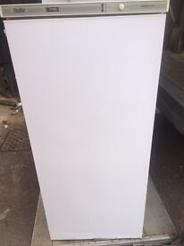 White ice lain frost free H 140cm W 60cm freezer good condition with guarantee
