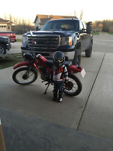 1984 Honda XL100 street legal dirtbike. Registered