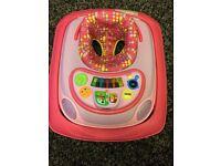 Baby girls pink walker