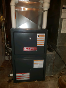 New furnace Central Humidifier Tankless Water heater and AC