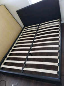 Low profile leather bed frame only $220