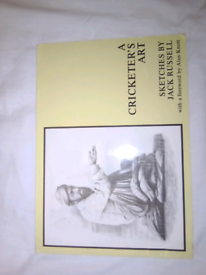 A cricketers art sketches by Jack Russell 1st edition