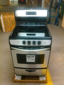 "Brand New 30"" and 24"" Appliances Stainless Steel and White"