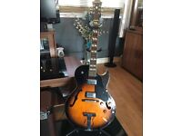 Epiphone VS - 175 semi acoustic guitar with a AS50R Marshall amp